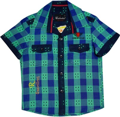 Calculus Baby Boy's Checkered Casual Multicolor Shirt