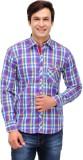 Nexq Men's Checkered Casual Multicolor S...