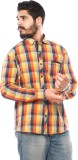 LWW Men's Checkered Casual Yellow, Red, ...