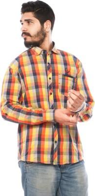 LWW Men's Checkered Casual Yellow, Red, Black Shirt