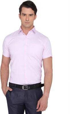 Donear NXG Men's Printed Formal Pink Shirt