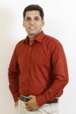 Siera Men's Solid Formal Maroon Shirt