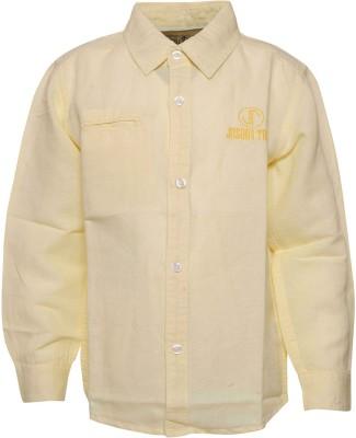 Joshua Tree Boy's Solid Casual Yellow Shirt