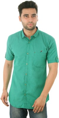 Studio Nexx Men's Solid Casual Green Shirt
