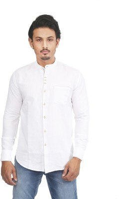 Success Men's Solid Casual White Shirt
