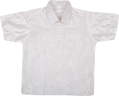 Thangamagan Baby Boy's Solid Festive White Shirt