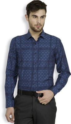 Black Coffee Men's Solid Casual Dark Blue Shirt