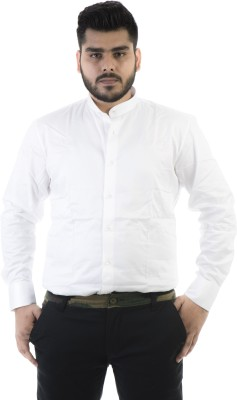 Jeanster Men's Solid Casual White Shirt