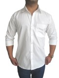 Solen Men's Solid Formal White Shirt