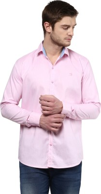 Rodamo Men,s Solid Casual Pink Shirt