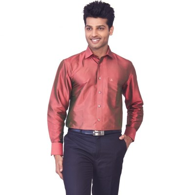 Mark Anderson Men's Solid Casual Red Shirt