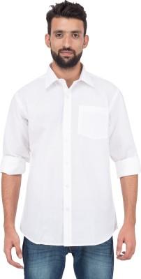 Adithya Men's Solid Formal White Shirt