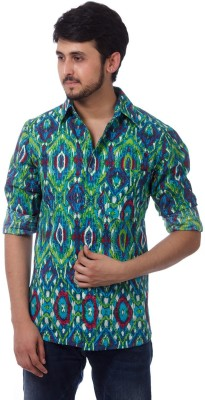 ERBE Men,s Printed Casual Multicolor Shirt