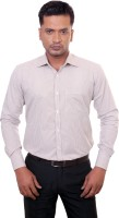 1almighty Formal Shirts (Men's) - 1Almighty Men's Checkered Formal Brown Shirt