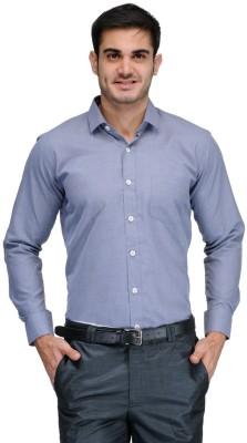 Harvest Men's Striped Formal Black Shirt
