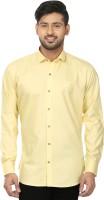 Louis Martin Formal Shirts (Men's) - Louis Martin Men's Solid Formal Yellow Shirt