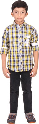 Human Steps Boy's Striped Casual Multicolor Shirt