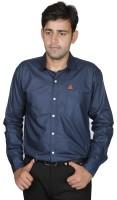 Royal Crown Formal Shirts (Men's) - Royal Crown Men's Solid Formal Dark Blue Shirt