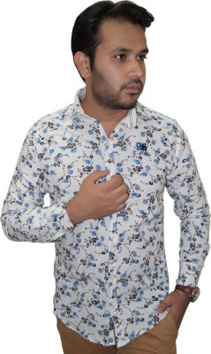 Ali Darzi Men's Printed Casual White Shirt