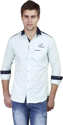 Alive Sport Men's Printed Casual Blue Shirt