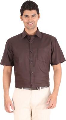 Furore Men's Solid Casual Brown Shirt