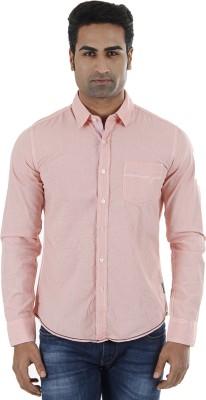 Flying Machine Men's Checkered Casual Pink Shirt