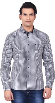 Moustache Men's Checkered Casual Black, White Shirt