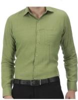 La Miliardo Formal Shirts (Men's) - LA MILIARDO Men's Solid Formal Linen Green Shirt