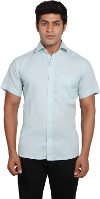 Nauhwar Men's Solid Formal Light Blue Shirt