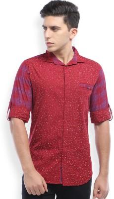 Skie Studio Men's Printed Casual Red Shirt