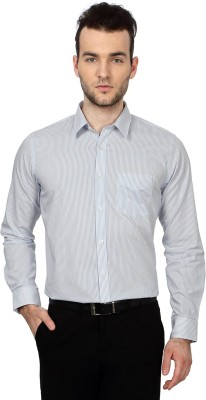 University of Oxford Men's Striped Formal White Shirt