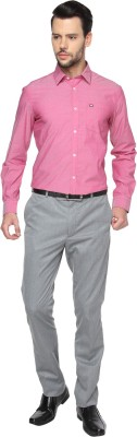 Manhattan Men's Solid Casual Pink Shirt