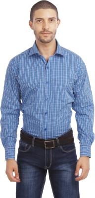 Leo Men's Striped Formal White Shirt