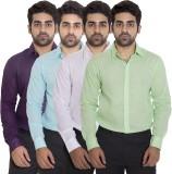 Deekshavastra Men's Solid Casual Green S...