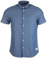 Jack Jones Formal Shirts (Men's) - Jack Jones Men's Solid Formal Blue Shirt