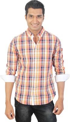 Tonyloom Men's Checkered Casual Multicolor Shirt