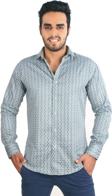 Just Differ Men's Self Design Casual Multicolor Shirt