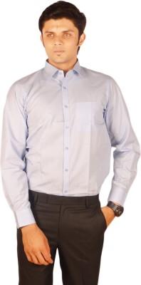 Kriss Men's Solid Formal Blue Shirt
