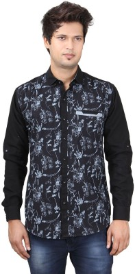 REFUEL SPORT Men's Solid Casual Black Shirt