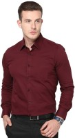 Vkg Formal Shirts (Men's) - VKG Men's Solid Formal Maroon Shirt
