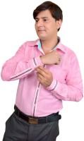 Srjls Formal Shirts (Men's) - Srjls Men's Solid Formal Pink Shirt