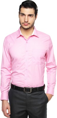 British Club Men's Checkered Formal Pink Shirt