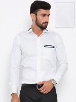 Shaftesbury London Formal Shirts (Men's) - Shaftesbury London Men's Solid Formal White Shirt