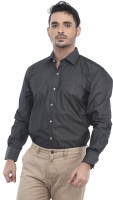 Tabard Formal Shirts (Men's) - Tabard Men's Solid Formal Black Shirt