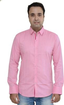 Kings Republic Men's Solid Casual Pink Shirt
