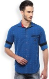 Mike and Smith Men's Printed Casual Blue...