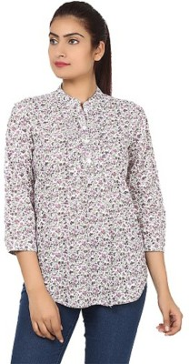 PINK SISLY Women's Solid Casual Pink Shirt