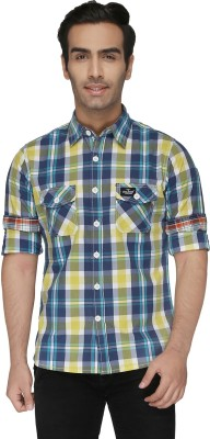 Again? Vintage Men's Checkered Casual Multicolor Shirt