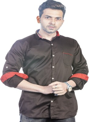 Bombay Casual Jeans Men's Solid Casual Black Shirt