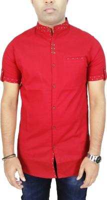 Kuons Avenue Men's Solid, Printed Casual Red Shirt